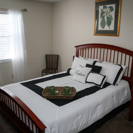 furnished living room at Village Green
