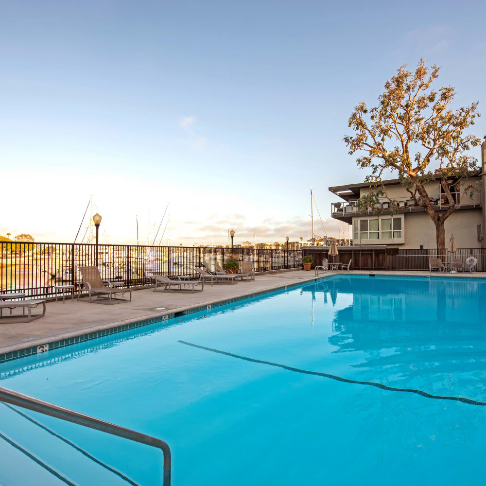 View a virtual tour of the swimming pool at The Tides community at The Villa at Marina Harbor in Marina del Rey, California