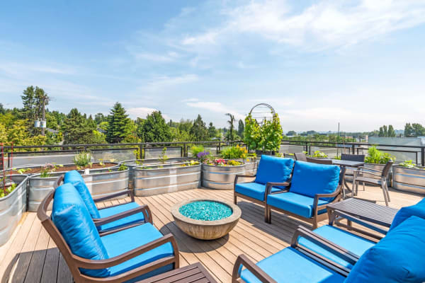 Roof top lounge at The Corydon managed by Pillar Properties
