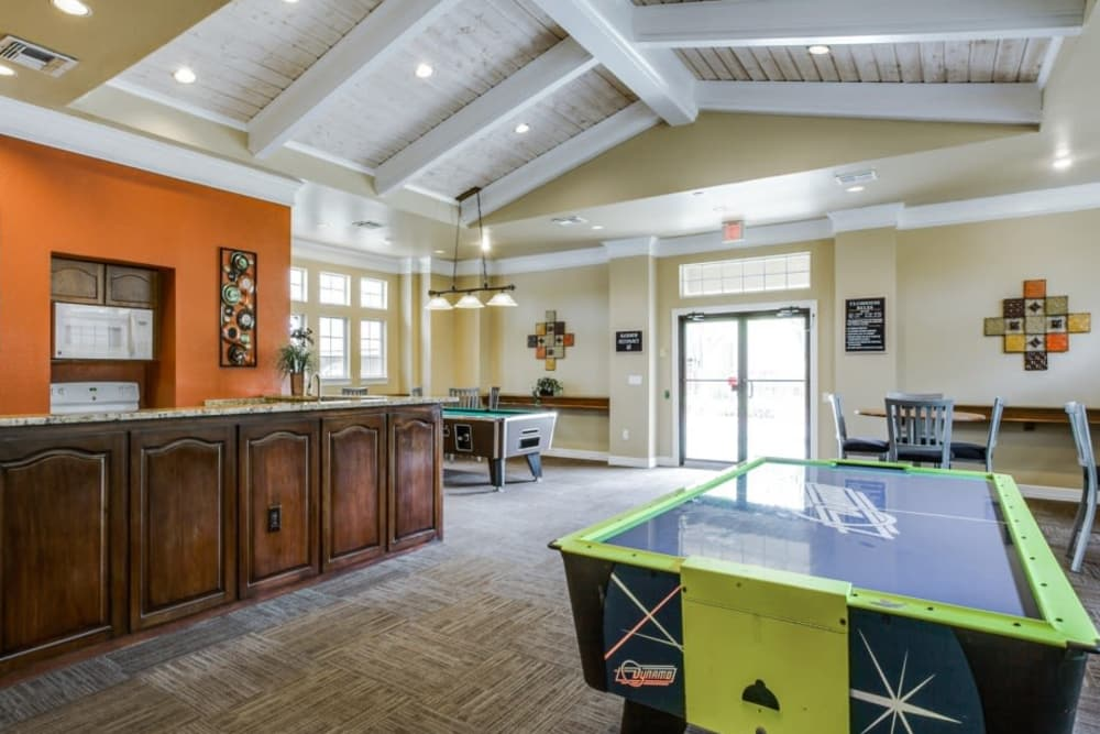 Game room at Estates on Frankford in Dallas, Texas