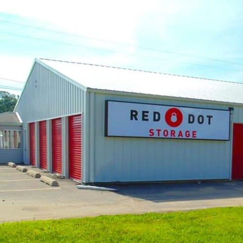 Outdoor storage units at Red Dot Storage in Wichita, Kansas