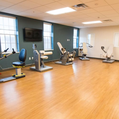 Fitness center at First & Main of New Albany in New Albany, Ohio