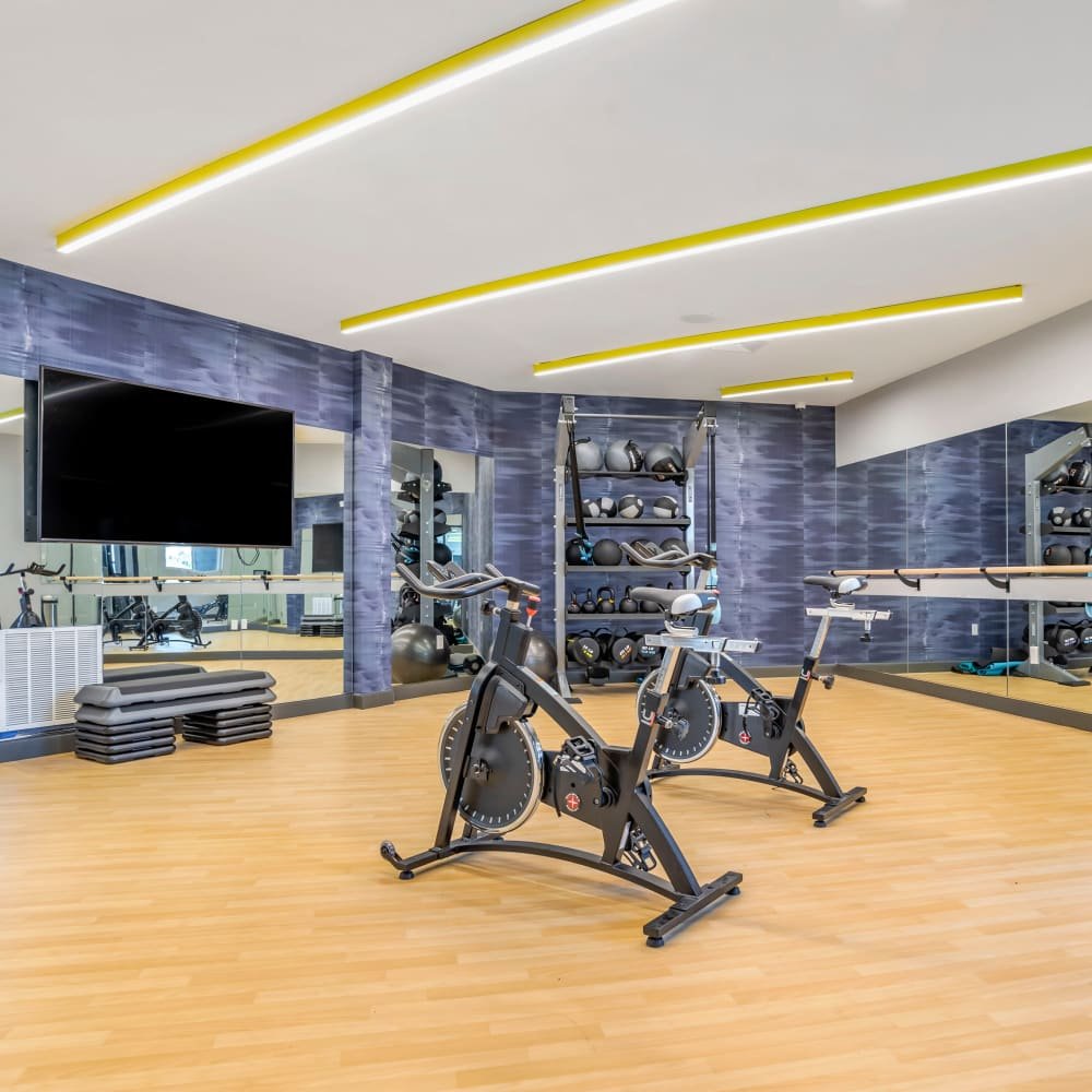 Fitness center for residents at UNCOMMON Tuscaloosa in Tuscaloosa, Alabama