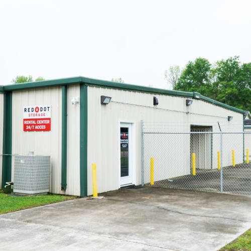 Entrance to office at Red Dot Storage in Baton Rouge, Louisiana