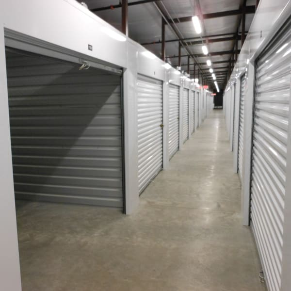 Indoor storage units at StorQuest Self Storage in Venice, Florida
