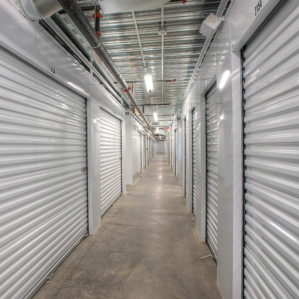 Indoor storage units at StorQuest Self Storage in Hilo, Hawaii