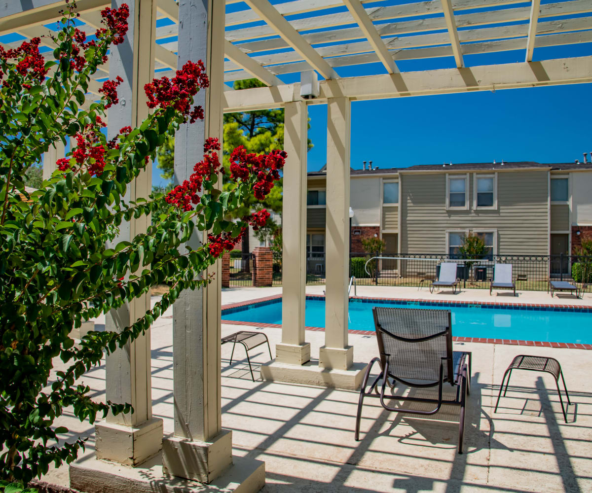 Beautiful pool at Summerfield Place Apartments in Oklahoma City, Oklahoma