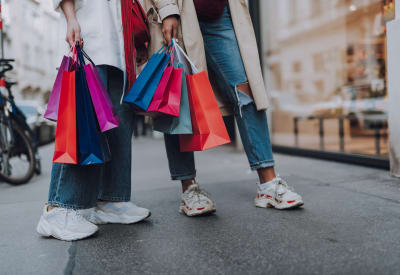 Residents enjoying some shopping downtown near The Hamptons at Town Center in Germantown, Maryland