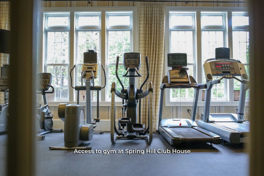 Gym accessibility is at Harmony at Spring Hill in Lorton, Virginia