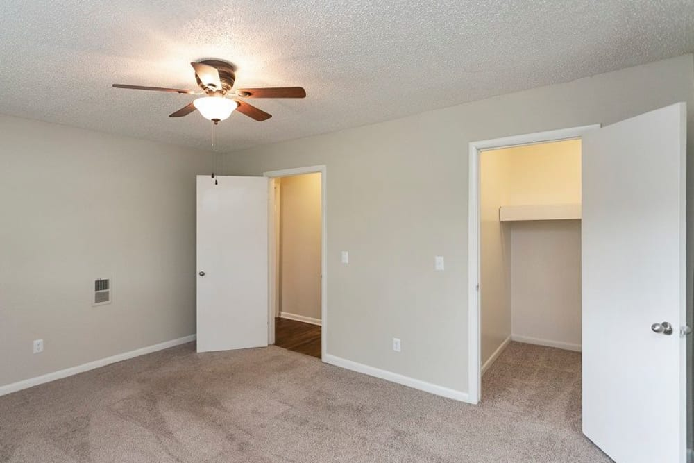 Bedroom layout at Candlewood Apartments in Nashville, Tennessee