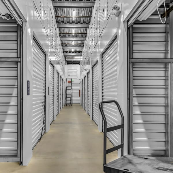 Indoor storage units at StorQuest Self Storage in Boulder, Colorado