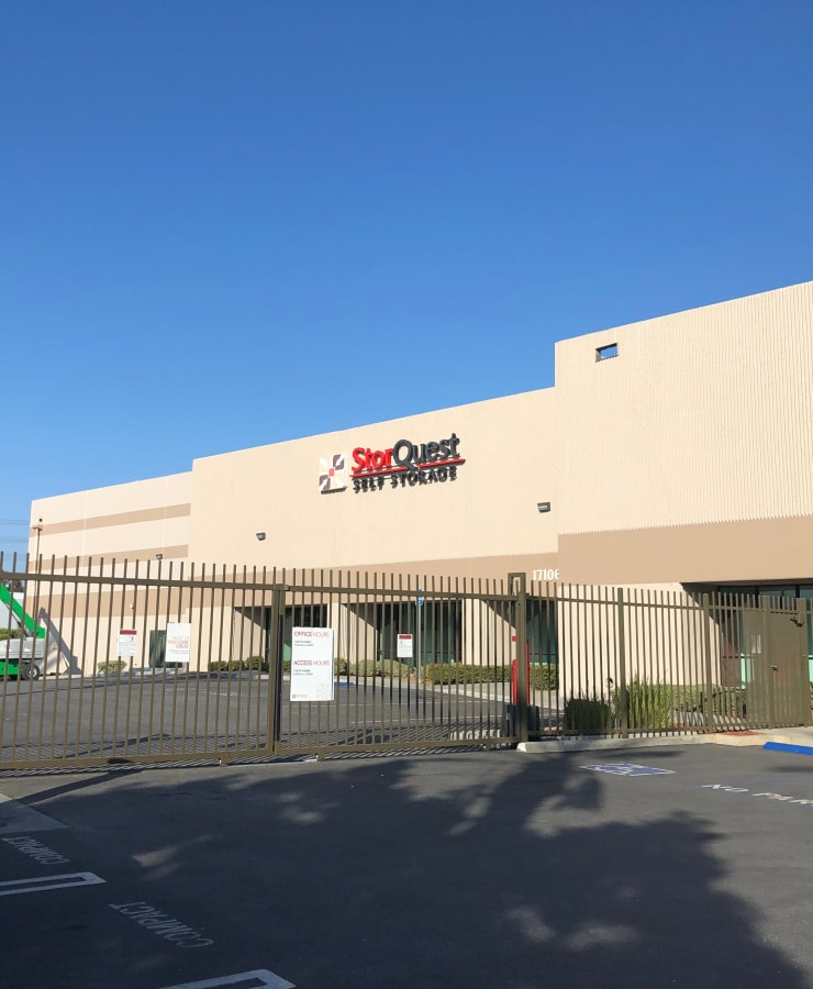 Exterior view of StorQuest Self Storage in Carson, California