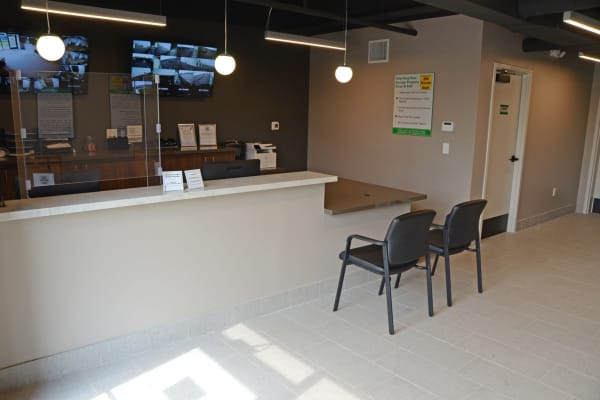 Interior of the leasing office at Mini Storage Depot in Mason, Ohio