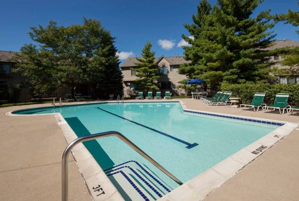 Swimming pool at Wexford Townhomes in Novi, MI