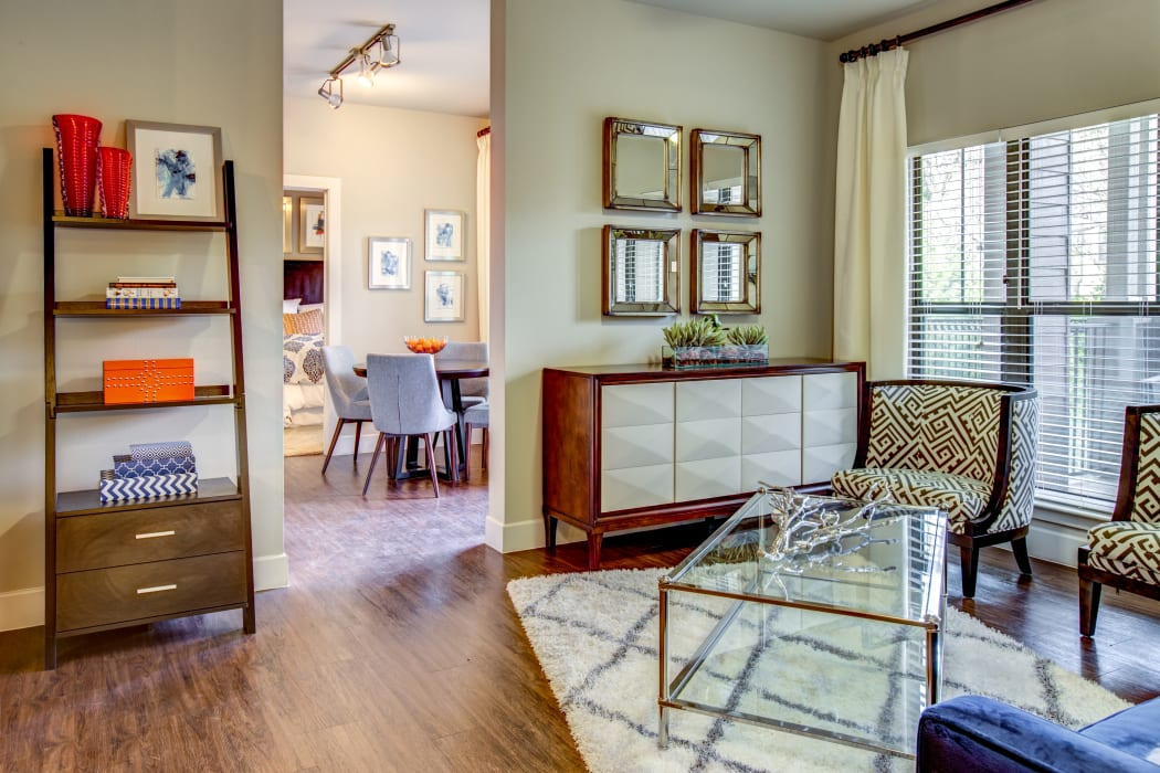 Apartment with hardwood flooring at Estates at Bee Cave