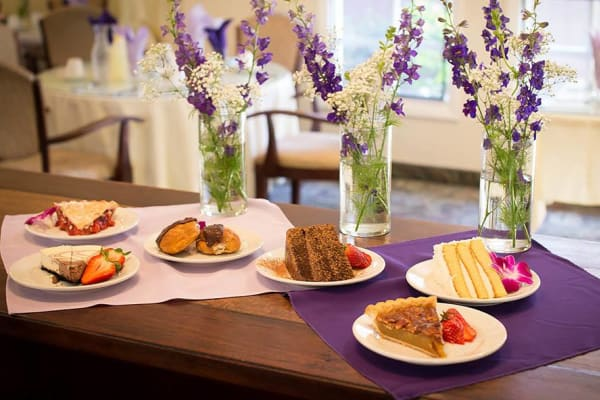 Delicious dessert spread at Pasadena Highlands in Pasadena, California