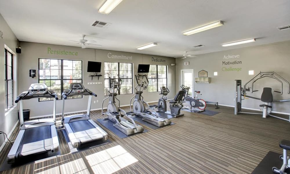Another angle of fitness center at apartments in Tucson, Arizona