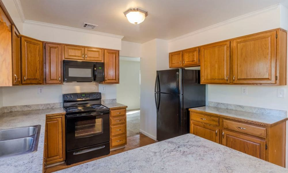 Modern kitchen at Eagle Meadows Apartments in Dover, Delaware
