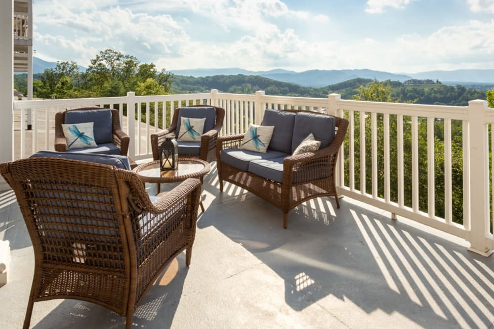 Outside seating area at The Harmony Collection at Roanoke - Independent Living in Roanoke, Virginia