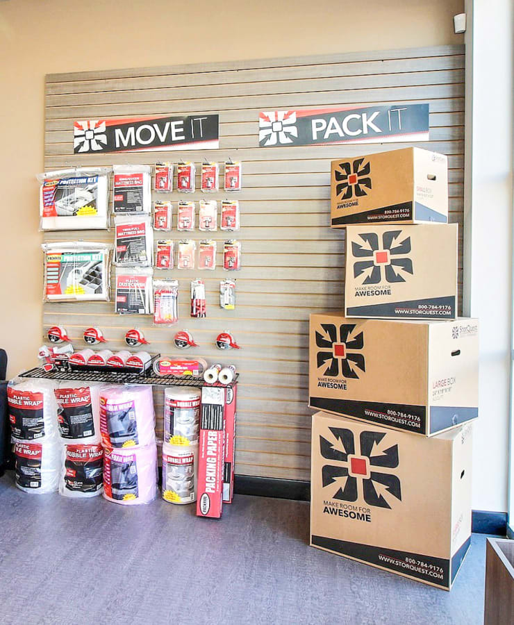 Packing supplies sold at StorQuest Self Storage in Dallas, Texas