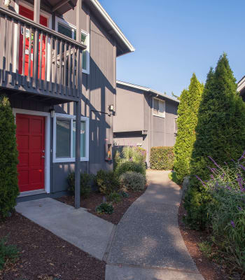 Front entrance to apartment home at Spring Lake Apartment Homes in Santa Rosa, California