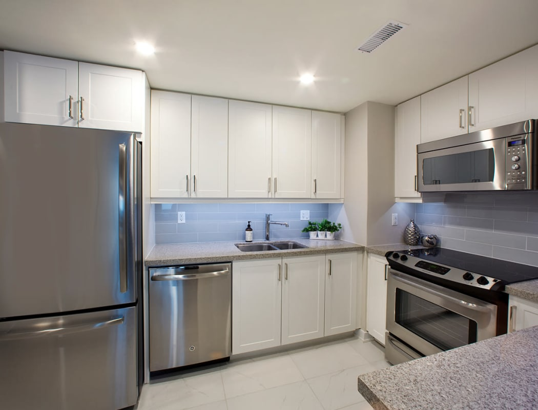 Stainless steel appliances at Widdicombe Place in Etobicoke