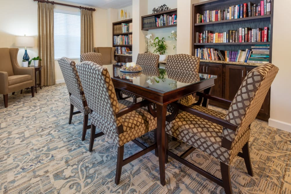 Library at The Harmony Collection at Roanoke - Assisted Living in Roanoke, Virginia