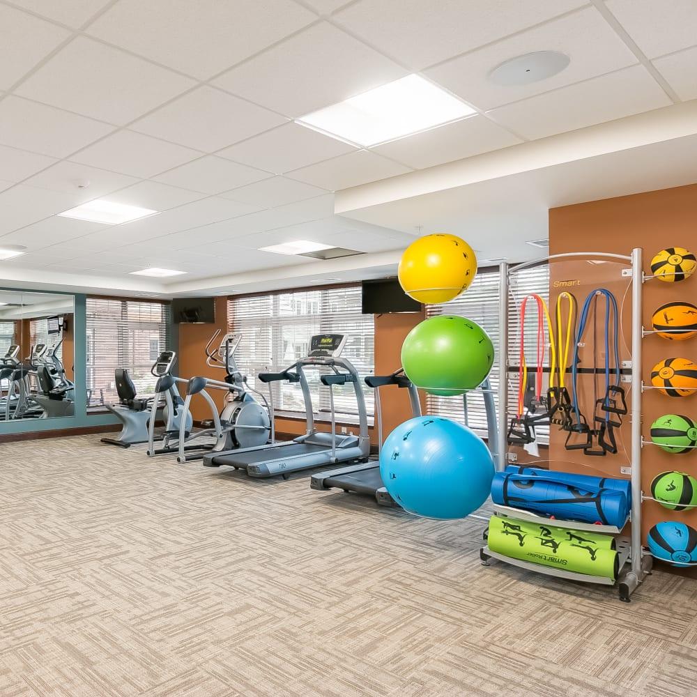 Resident fitness center at Applewood Pointe Minnetonka in Minnetonka, Minnesota.