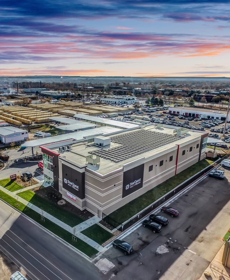 Aerial view of StorQuest Self Storage in Boulder, Colorado
