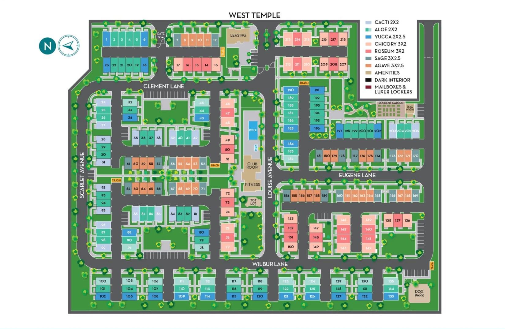 Community map of Hawthorne Townhomes in South Salt Lake, Utah