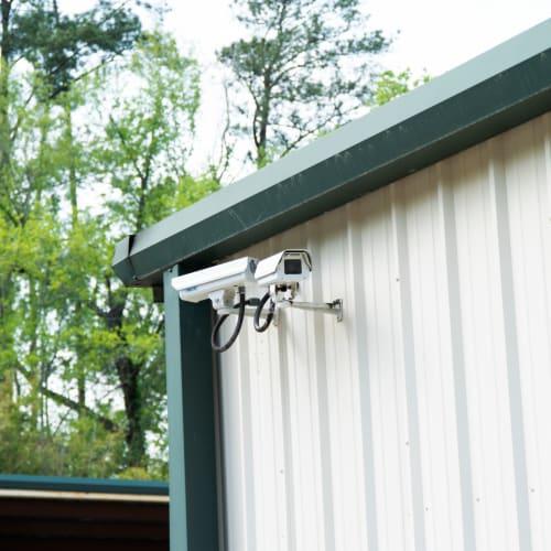 Security cameras at Red Dot Storage in Huntsville, Alabama