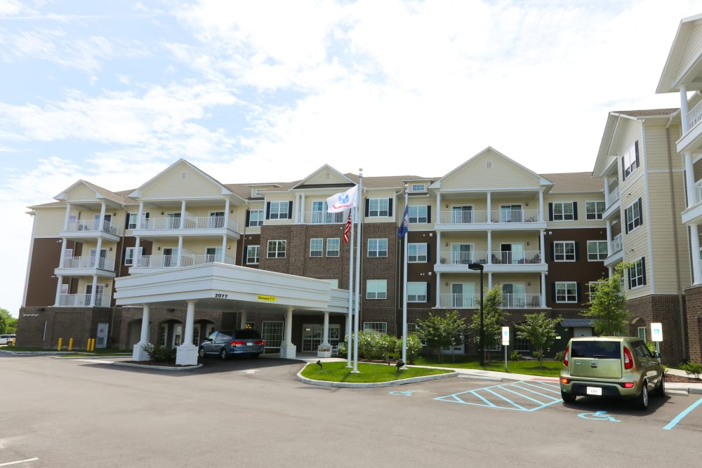 The building facade of Harmony at Independence in Virginia Beach, Virginia