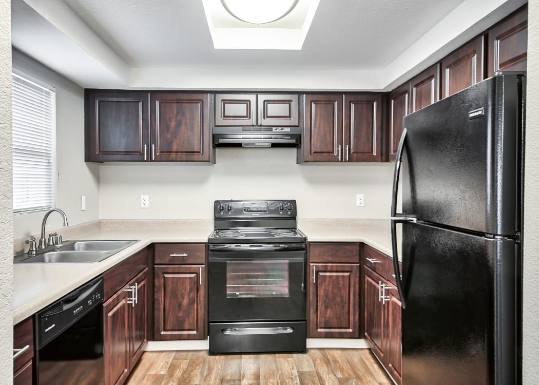 Kitchen at The Lodge at McCarran Ranch Apartment Homes
