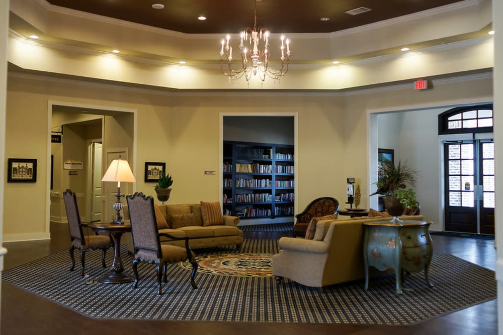 A view from in the foyer at The Claiborne at Hattiesburg Assisted Living in Hattiesburg, Mississippi