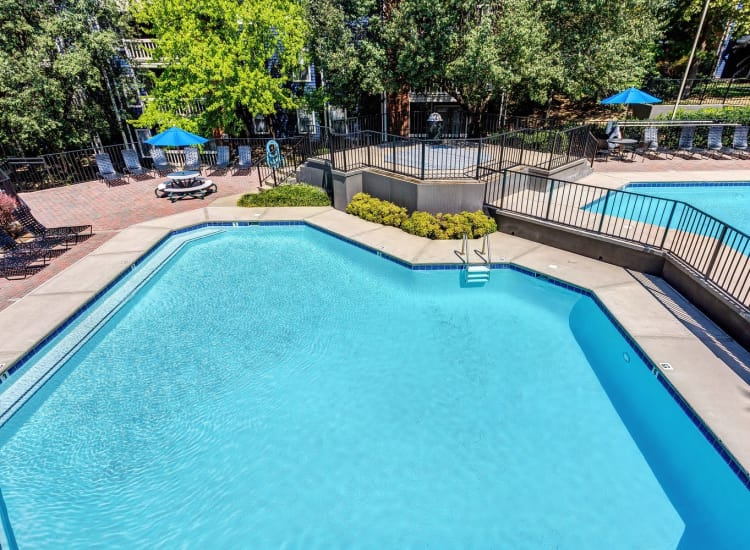 Sparkling swimming pool at Lyric on Bell in Antioch, Tennessee