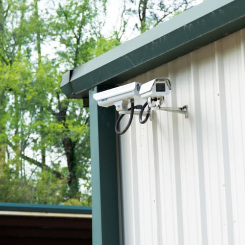 Security cameras at Red Dot Storage in Montgomery, Alabama