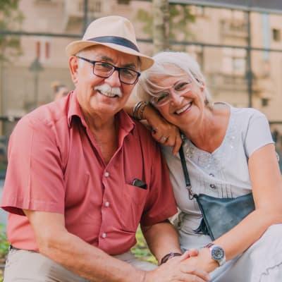 A happy resident couple at Ebenezer Ridges Campus in Burnsville, Minnesota