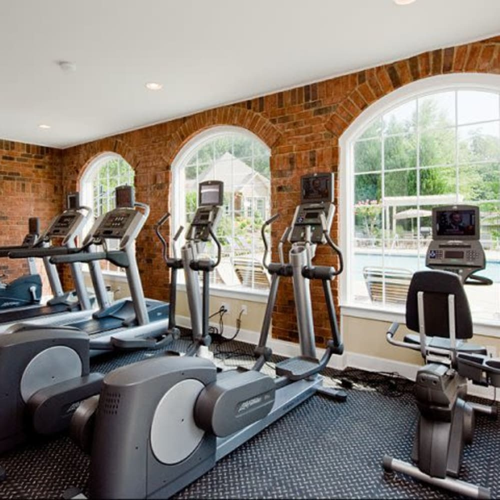 Onsite fitness center at Holland Park in Lawrenceville, Georgia