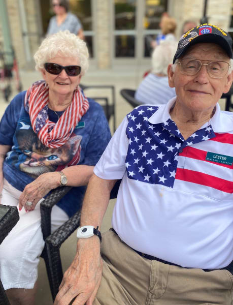Woodstock (GA) residents were all smiles during their delicious Fourth of July barbeque.