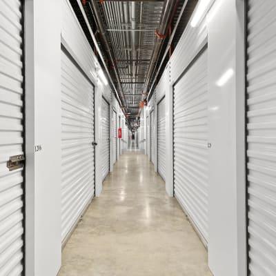 Indoor ground floor units at Storage Star Domain in Austin, Texas