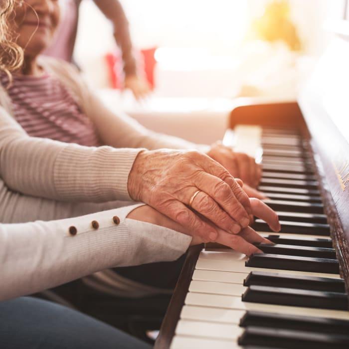 The Music Speaks program at Milestone Senior Living in Cross Plains, Wisconsin
