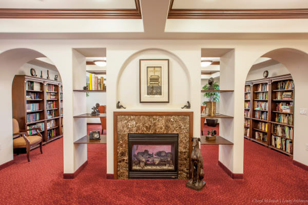 Community library at Heritage Meadows Gracious Retirement Living in Cambridge, Ontario