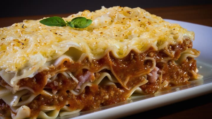Plate of lasagna from restaurant near Cactus Forty-2 in Phoenix, Arizona