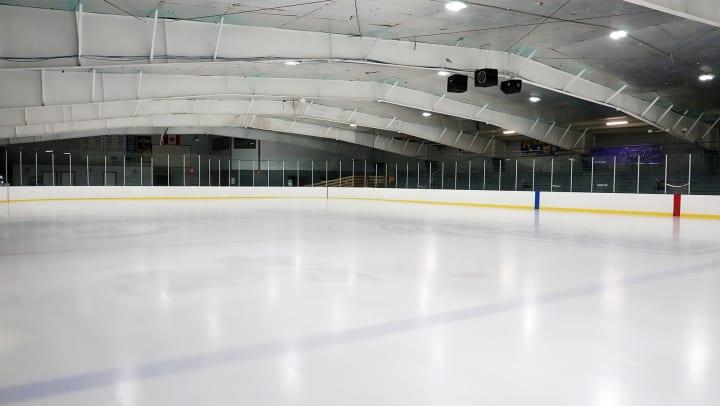 Empty ice skating rink near Olympus Katy Ranch in Katy, Texas