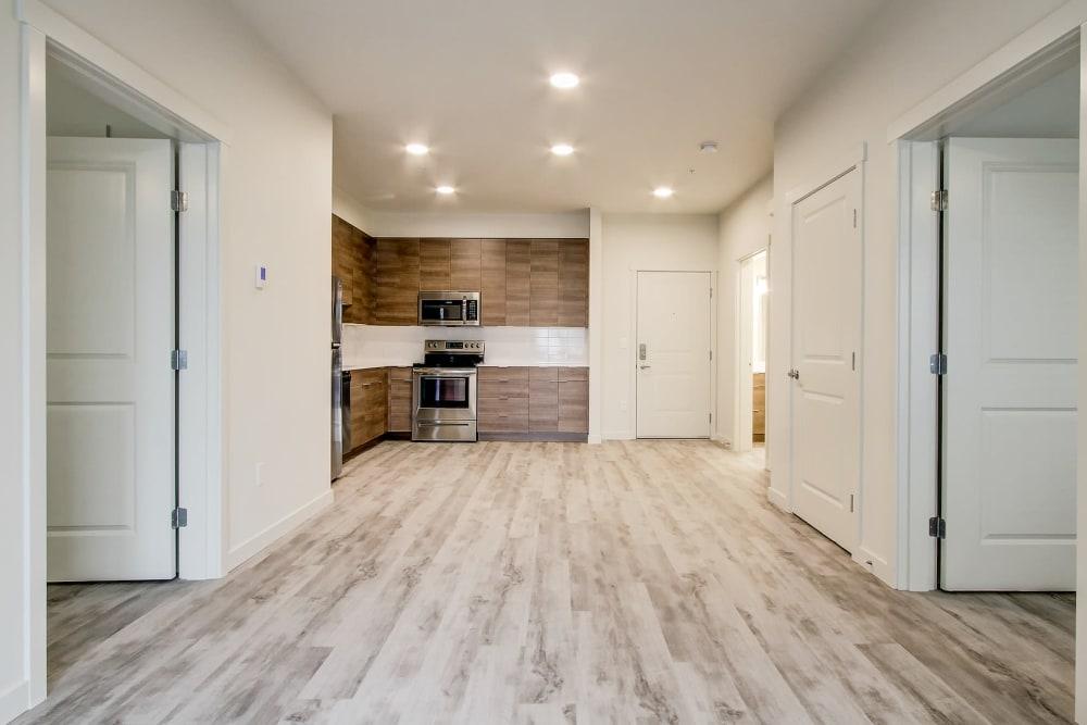 Modern Kitchen & Living Room at Kinect @ Broadway in Everett, Washington