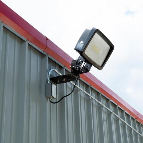Bright exterior lighting at Red Dot Storage in Granite City, Illinois