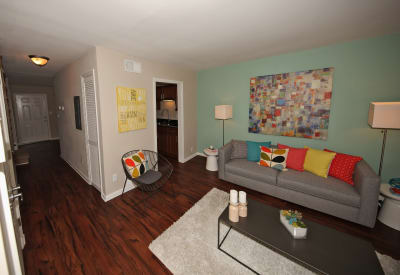 Spacious living room at The Broadway at East Atlanta