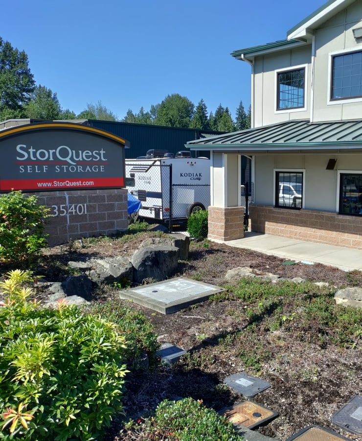 Exterior at StorQuest Self Storage in Federal Way, Washington