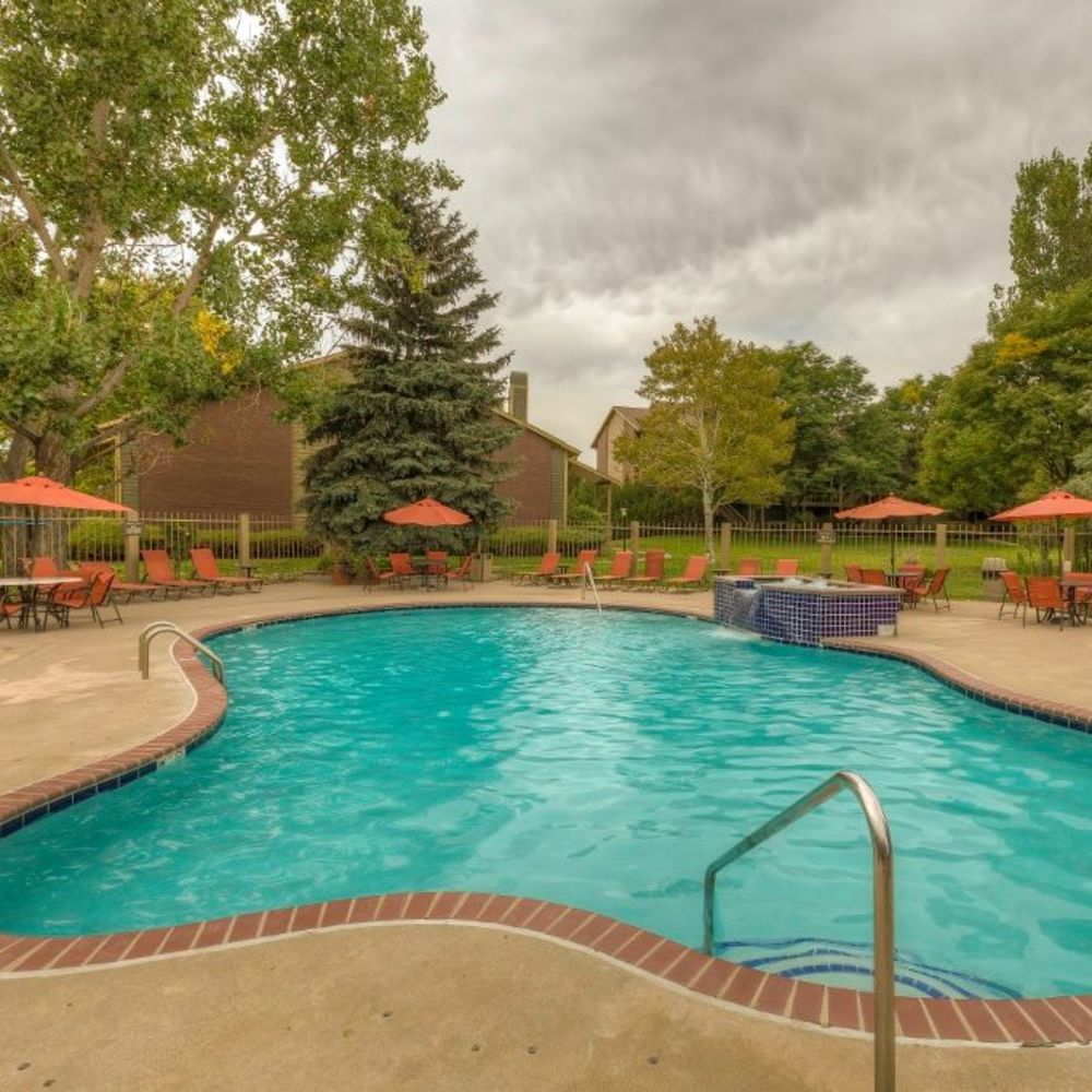 Resort-style swimming pool at Skyline in Thornton, Colorado
