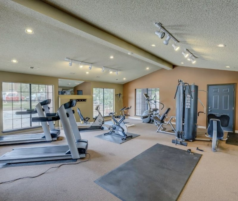 Onsite fitness center at Skyline in Thornton, Colorado